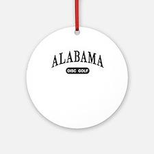Alabama Disc Golf Ornament (Round)