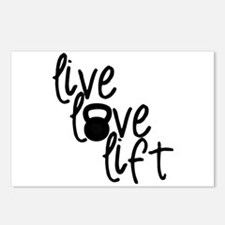 Live, Love, Lift Postcards (Package of 8)