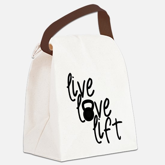 Live, Love, Lift Canvas Lunch Bag