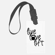 Live, Love, Lift Luggage Tag