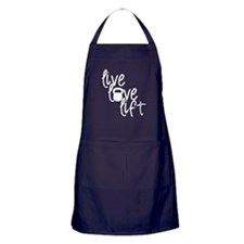 Live, Love, Lift Apron (dark)