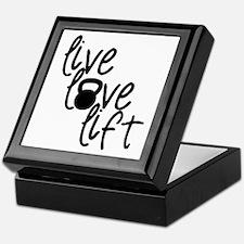 Live, Love, Lift Keepsake Box