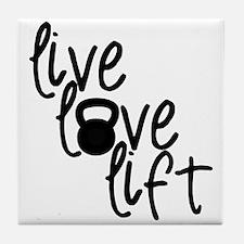 Live, Love, Lift Tile Coaster