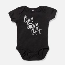 Live, Love, Lift Baby Bodysuit