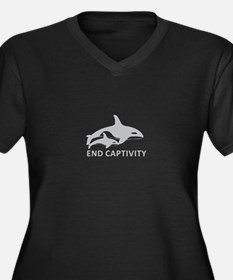 End Captivity Plus Size T-Shirt