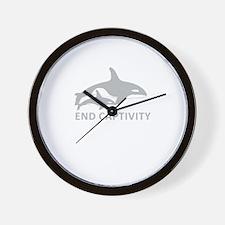 End Captivity Wall Clock