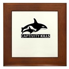Save the Whales Framed Tile
