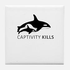 Captivity Kills Tile Coaster
