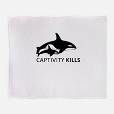 Captivity Kills Throw Blanket