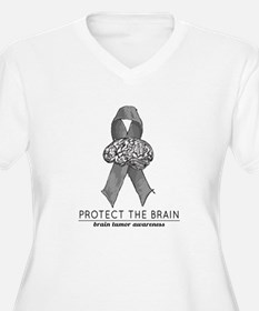Protect the Brain Plus Size T-Shirt