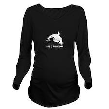 Free Tilikim Long Sleeve Maternity T-Shirt