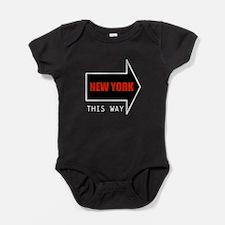 NEW YORK THIS WAY Baby Bodysuit