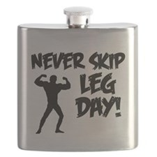 Never Skip Leg Day Flask