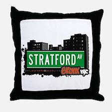 Stratford Av, Bronx, NYC  Throw Pillow