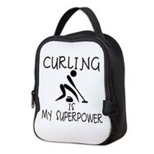 CURLING is My Superpower Neoprene Lunch Bag