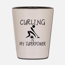 CURLING is My Superpower Shot Glass