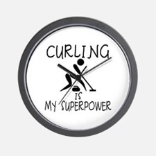 CURLING is My Superpower Wall Clock