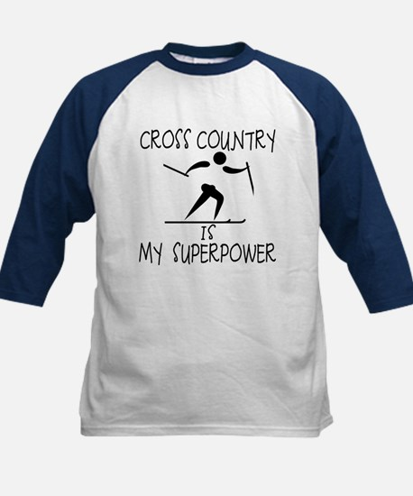 CROSS COUNTRY is My Superpower Kids Baseball Jerse