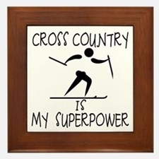 CROSS COUNTRY is My Superpower Framed Tile
