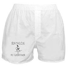 BIATHLON is My Superpower Boxer Shorts