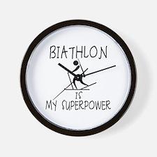 BIATHLON is My Superpower Wall Clock
