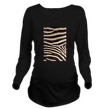 zebra black white Long Sleeve Maternity T-Shirt