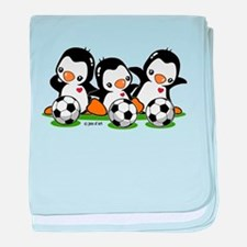 Soccer Penguins baby blanket