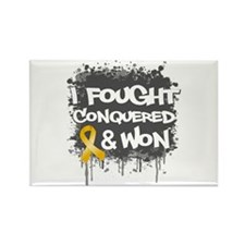 Appendix Cancer Fought Won Rectangle Magnet