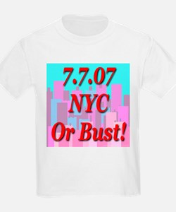 7.7.07 NYC Or Bust T-Shirt