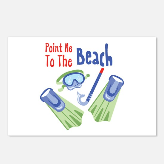 Point me to the Beach Postcards (Package of 8)
