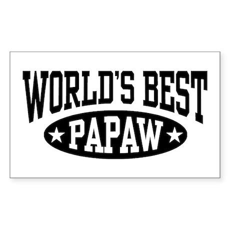 World's Best Papaw Sticker (Rectangle)