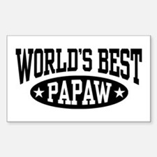 World's Best Papaw Sticker (Rectangle)