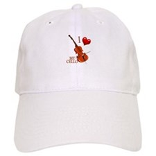 I Love My CELLO Baseball Cap