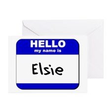 hello my name is elsie  Greeting Cards (Package of