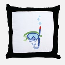 Snorkel Mask Throw Pillow