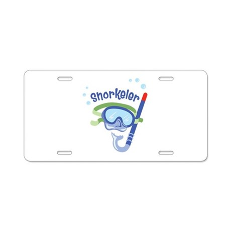 snorkeler Aluminum License Plate