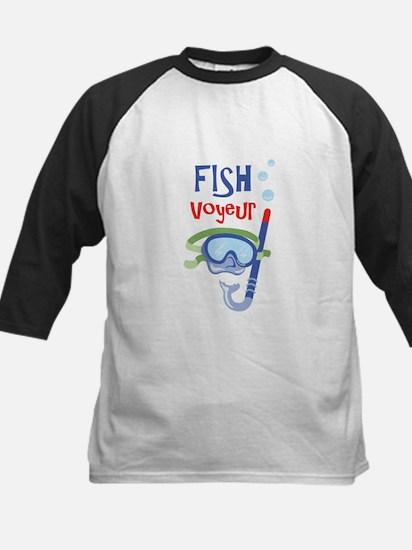 fish voyeur Baseball Jersey