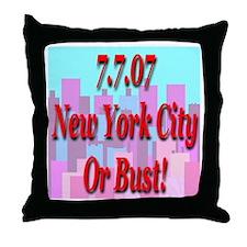 7.7.07 New York Throw Pillow