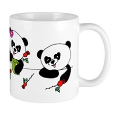 Panda and roses Mugs
