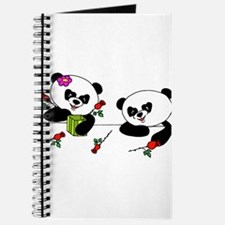 Panda and roses Journal