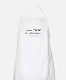 Without music, life is a mist BBQ Apron