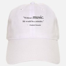 Without music, life is a mist Baseball Baseball Cap