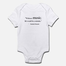 Without music, life is a mist Infant Bodysuit