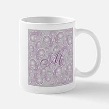 Dusky Purple Paisley Custom Monogram Mugs