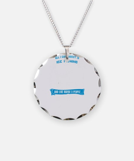 Ice Fishing Design Necklace