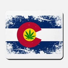 Colorado Marijuana Flag Mousepad