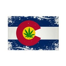 Colorado Marijuana Flag Magnets