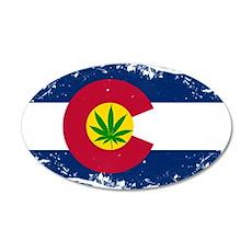 Colorado Marijuana Flag Wall Decal