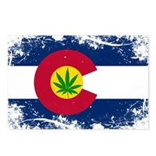 Colorado Marijuana Flag Postcards (Package of 8)
