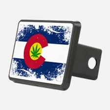 Colorado Marijuana Flag Hitch Cover